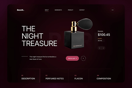 香水电商网站模板