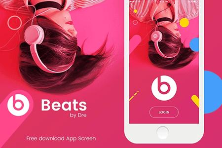 Beats登录界面设计