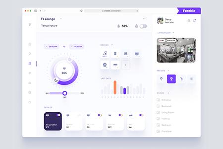 智能家居仪表板用户界面概念设计