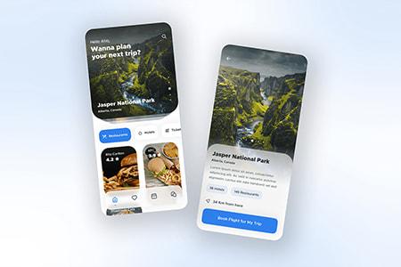 Travel App用户界面概念设计