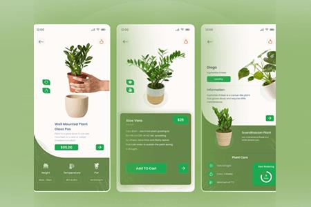 植物护理应用程序设计APP界面