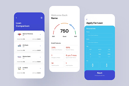 Fintech金融技术应用程序UI设计