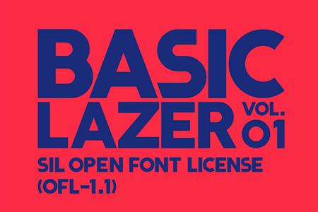 Lazer品牌英文字体