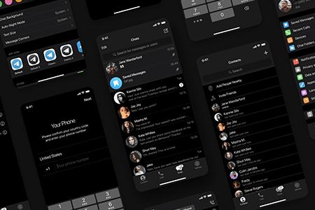 电报信息iOS UI界面
