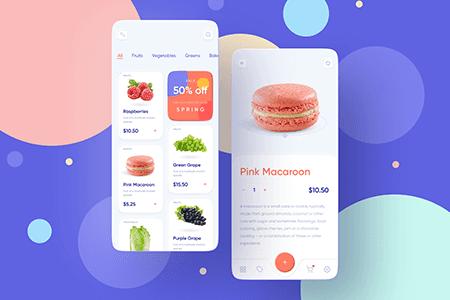 食品杂货店购物移动APP UI界面设计