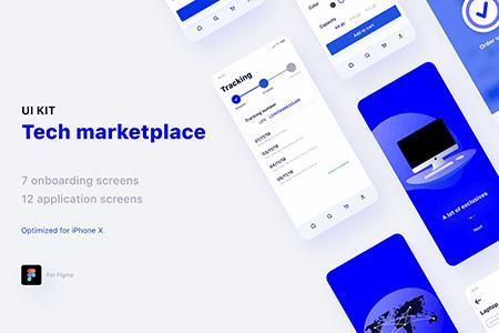 Tech Marketplace技术市场应用UI界面