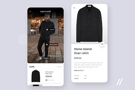 衣服识别APP应用界面