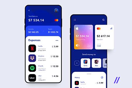 手机银行和金融应用程序用户界面