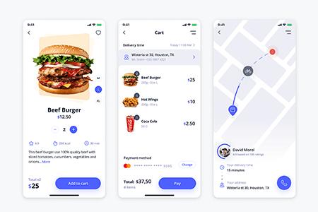 简洁的外卖App Ui 界面设计