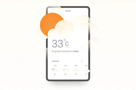 天气预报移动用户界面