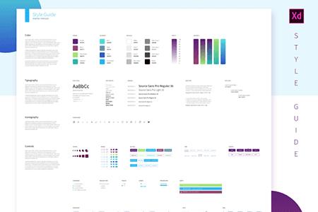 UI设计样式指南模板