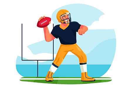 橄榄球主题的矢量插画插图素材