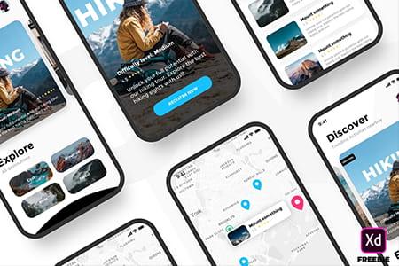 旅行社交应用APP UI界面