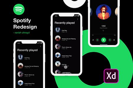 Spotify 音乐播放应用界面设计