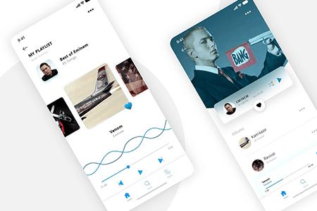现代音乐播放UI界面设计