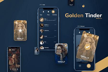 Tinder Gold流行社交约会交友应用APP界面