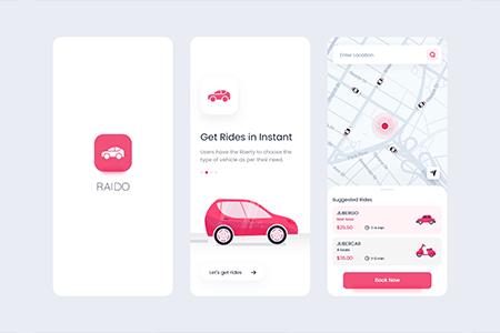 乘车共享应用程序APP用户界面