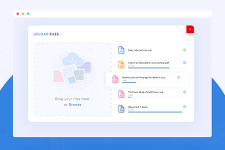上传文件用户界面小部件