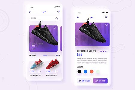 运动鞋电商应用程序创意UI设计