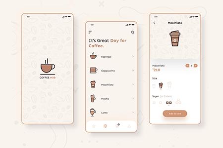 咖啡店在线电商应用界面设计