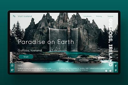 冰岛旅游网站模板