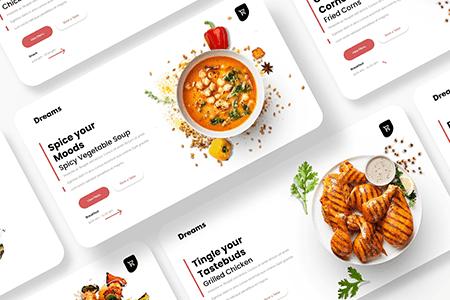 食品网站幻灯片模板