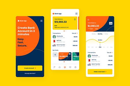 金融银行应用APP界面设计