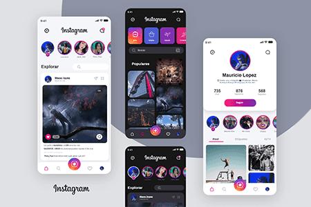Instagram社交圈子界面设计