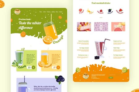 健康果汁网站模板