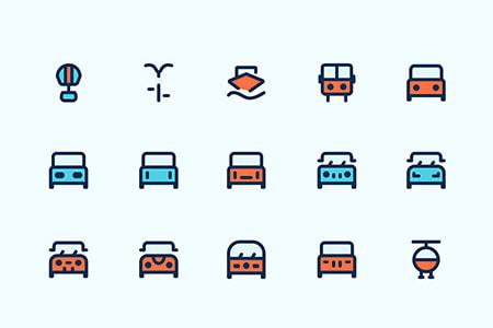 25枚交通工具图标