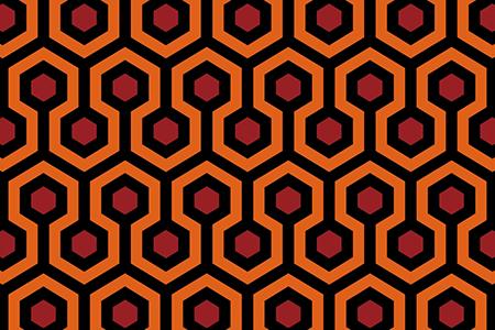 恐怖电影中地毯图案