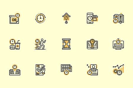 30枚时间管理元素图标