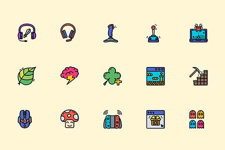 70枚电脑游戏元素图标