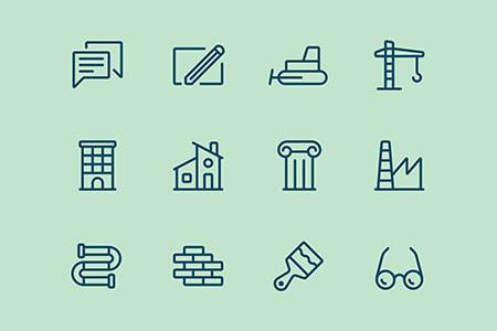 12枚建筑图标