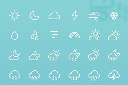 85枚中风天气图标