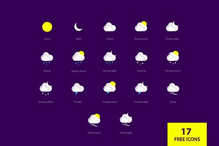 17枚矢量天气图标