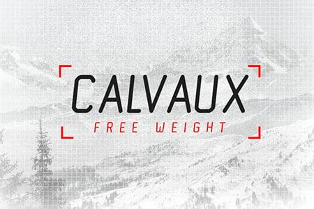 Calvaux-常规斜体免费字体