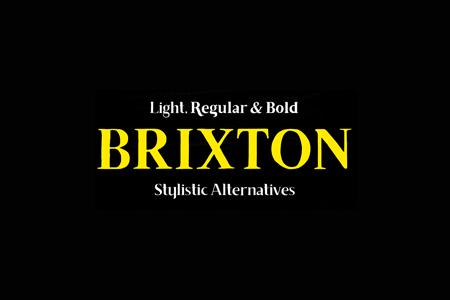 Brixton–艺术装饰Logo字体