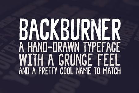 Backburner Grunge 手写粉笔字体