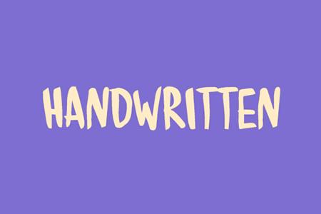 Handwritten-手写笔刷英文字体