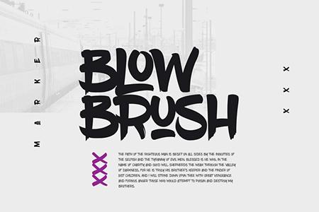 BlowBrush手写标记印刷字体