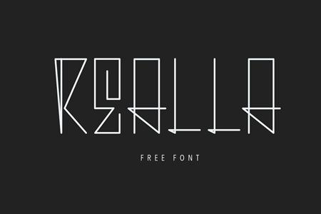 Realla–艺术几何字体