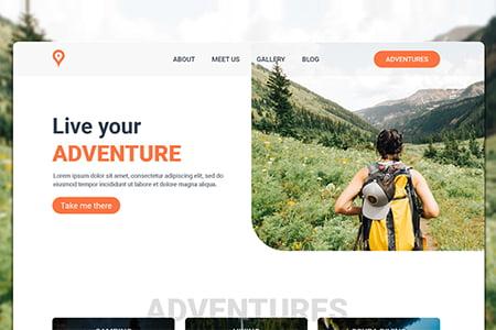 冒险旅行主页UI模板