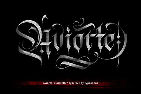 Aviorte Blackletter优雅干净艺术字体