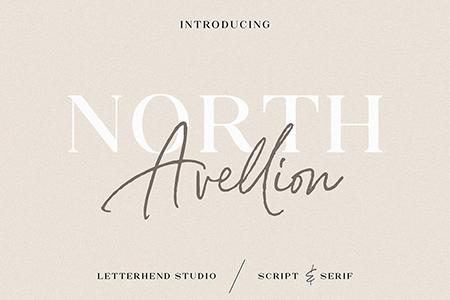 North Avellion 手写经典签名字体组合