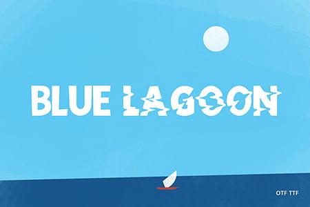 Blue Lagoon 故障风波纹艺术字体