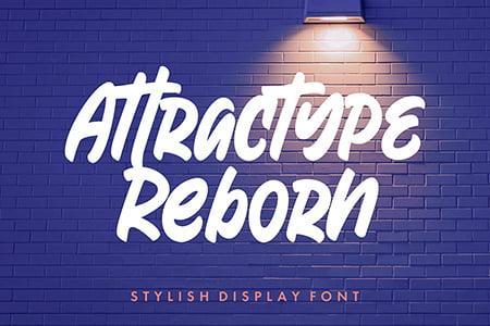 Attractype Reborn 清新曲线手写粗体