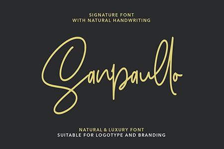 Sanpaullo手写签名字体