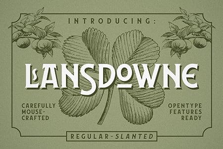 Lansdowne 艺术复古装饰字体