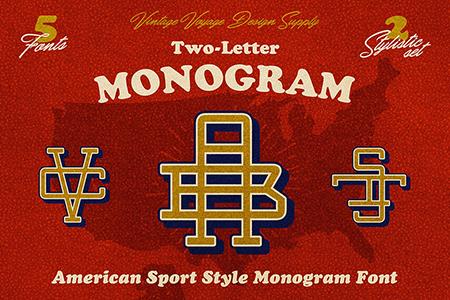 Vintage Monogram复古会标艺术字体